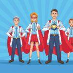 personel super lekarzy z plaszczami bohaterow 18591 65172